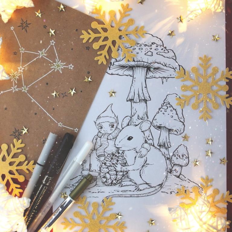 kolorowanka elf mikołaja