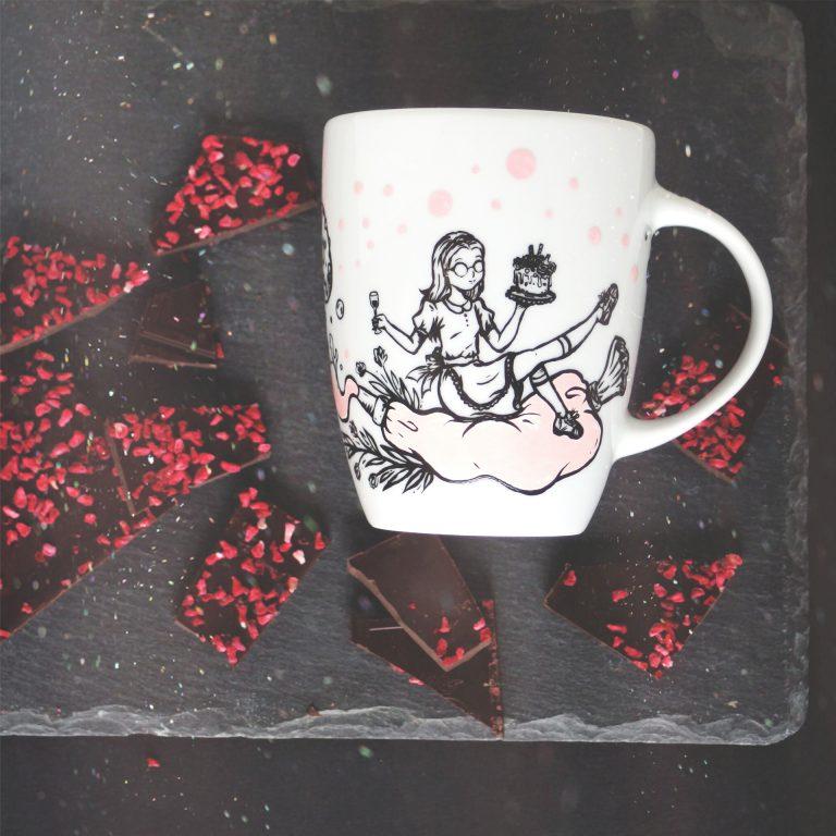 różana babeczka
